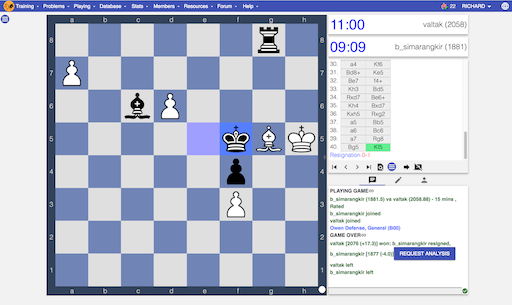 image of play chess online user interface